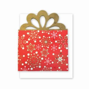 Red Present Gift Card Holder